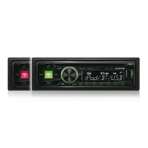 alpine-cde-173bt-bluetooth-blackgreenred-car-media-receiver